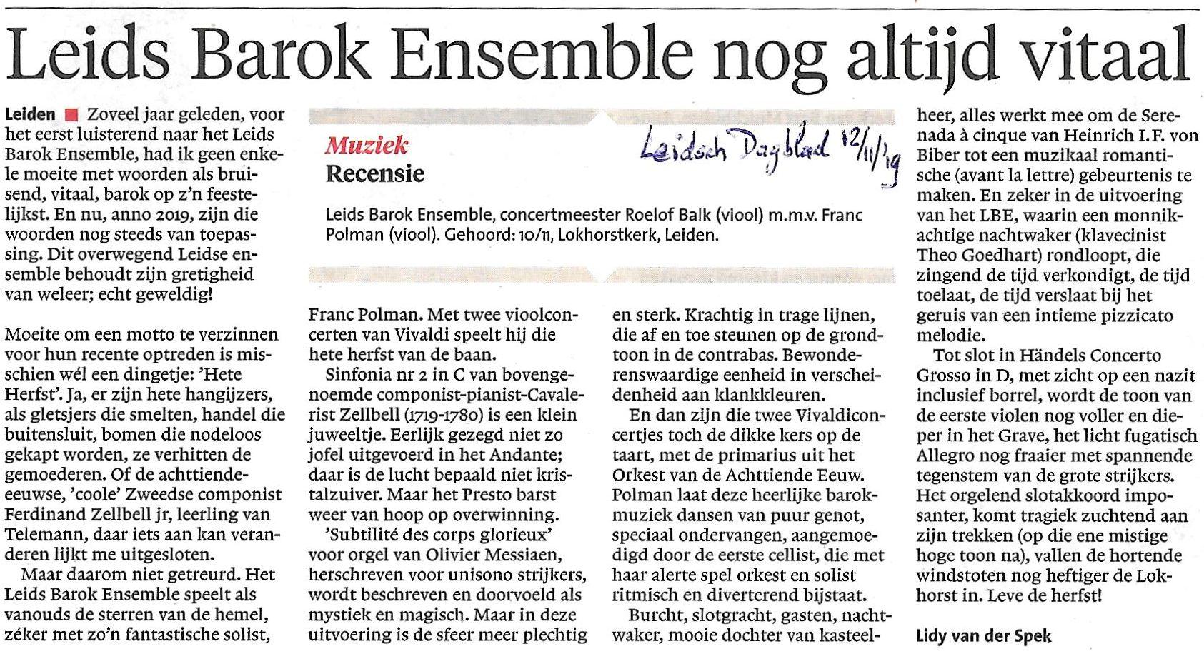 recensie LBE Leids DAgblad